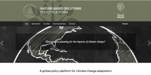 Nature-based Solutions policy platform screenshot