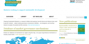 Shaping Sustainable Markets