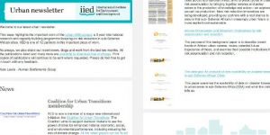 IIED's urban newsletter issued in July 2017