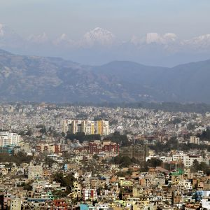 The Kathmandu Valley with the Himalayas in the distance. According to Yale University's Environment Performance Index 2014, Nepal ranks 177th out of 178 countries for poor air quality (Photo: Kashish Das Shrestha)