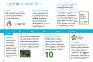 IIED's Annual Report details key events during the 2016-2017 (Image: IIED)