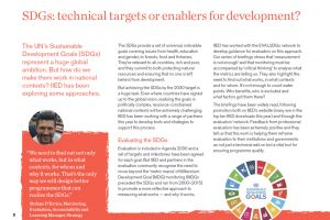 IIED has been working on how to make the Sustainable Development Goals work in national contexts (Image: IIED)