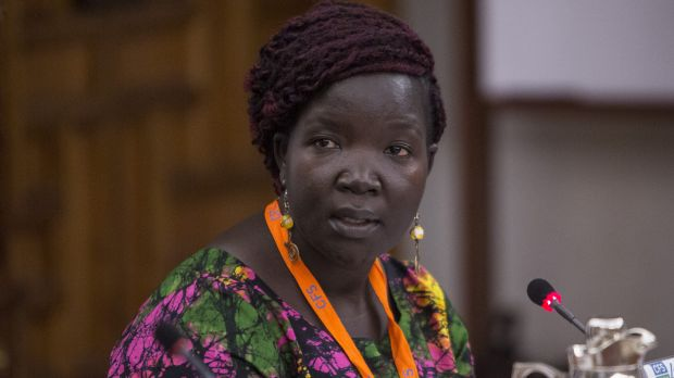 Immaculate Yossa is regional advocacy officer for Eastern Africa at Hivos. She discussed key messages from multi-stakeholder action at the Uganda Food Lab (Photo: Food and Agriculture Organisation, Creative Commons, via Flickr)