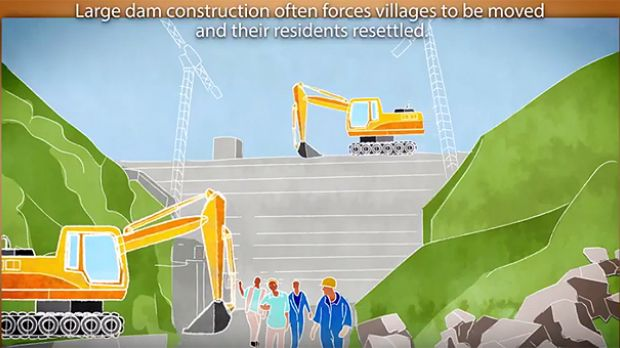 An excerpt from an animation on how governments and communities affected by large dams can both benefit (Image: IIED/Hands Up)