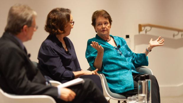 Gro Harlem Brundtland's speech was followed by a question and answer session with the audience