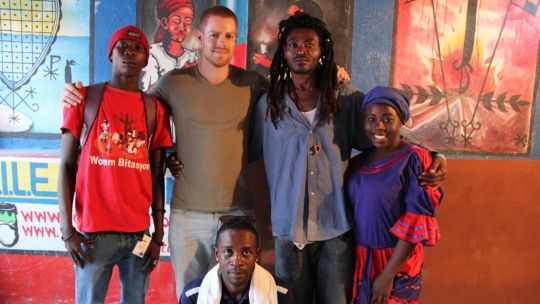 Moritz Schuberth with contacts who facilitated access to Cite Soleil in Port-au-Prince (Photo: Moritz Schuberth)