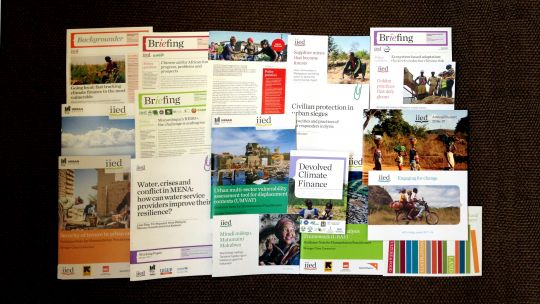 Some of the publications published by IIED during 2017 (Image: Annette McGill/IIED)