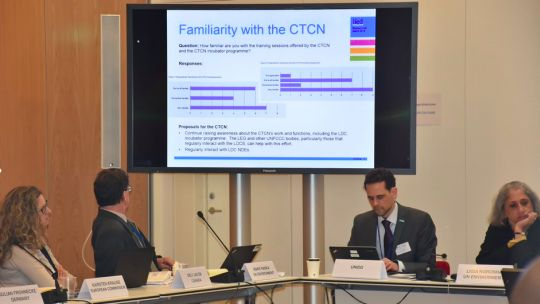 Presenting the findings to the CTCN Advisory Board (Photo: Scott Willis)