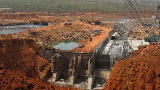 Kaleta Dam under construction in Guinea (Photo: Jamie Skinner/IIED)