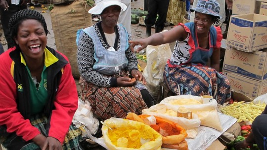 Women selling spices in the street