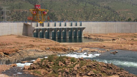 Guinea's Kaleta dam was completed by a Chinese company in 2015, ending chronic power shortages in the capital city, Conakry (Photo: Jamie Skinner/IIED)