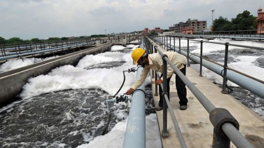 This sewage treatment plant in Delawas, Jaipur, was funded by the Asian Development Bank. There are concerns omitting local people from decision-making processes can lead to climate funds not sufficiently representing local priorities (Photo: Asian Development Bank, Creative Commons, via Flickr)