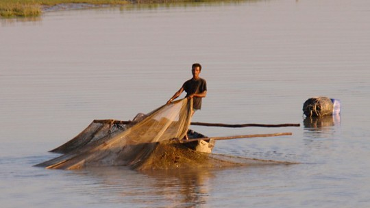 Bangladeshi fishers with debts must repay loans even when fishing is banned, resulting in illegal fishing activities (Photo: John Pavelka, Creative Commons, via Flickr)