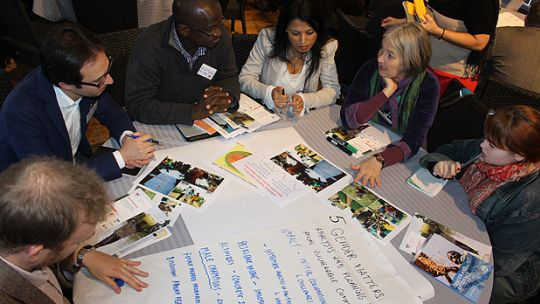 Participants around a table at D&C Days 2016 (Photo: Matt Wright/IIED)