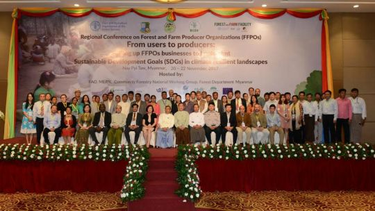 Participants at last month's annual monitoring and learning meeting of forest and farm producer organisations shared success stories (Photo: Duncan Macqueen/IIED)