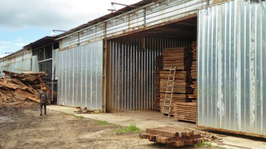 The new Mr Forest Ltd timber drying facility – part of a US$5 million Chinese investment in value added processing in Mozambique (Photo: Duncan Macqueen/IIED)