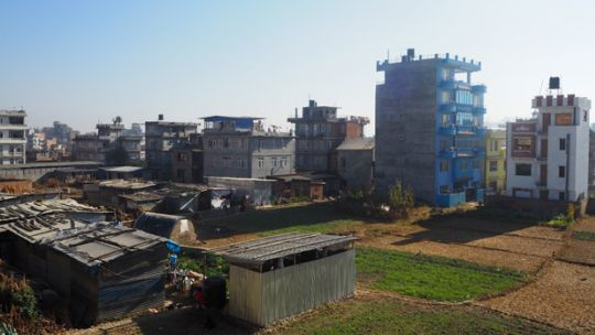 Temporary settlements in Kirtipur, Nepal, which was devastated by earthquakes in 2015 (Photo: Zahrah Nesbitt-Ahmed)