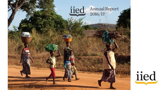 The front cover of IIED's 2016/17 annual report (Image: IIED)