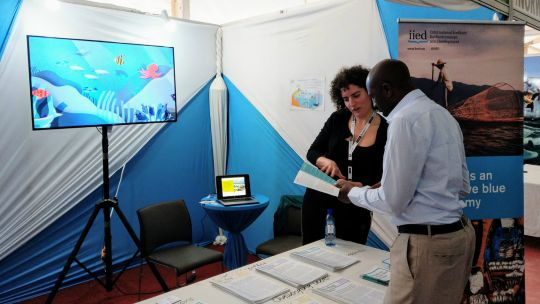 The exhibition stand at the Blue Economy Conference in Nairobi