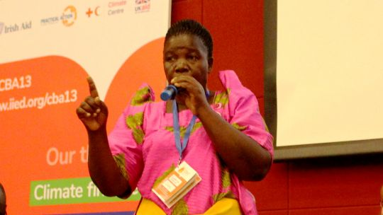Constance Okolette Achom from Uganda urged urgent action at grassroots level. (Photo: IIED)