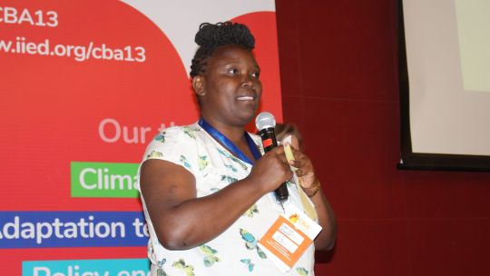 Dorice Bosibori Moseti from SDI, the international network of community-based organisations of the urban poor (Photo: IIED)