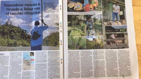 A photo of the report on the project in the the Nacion Newspaper