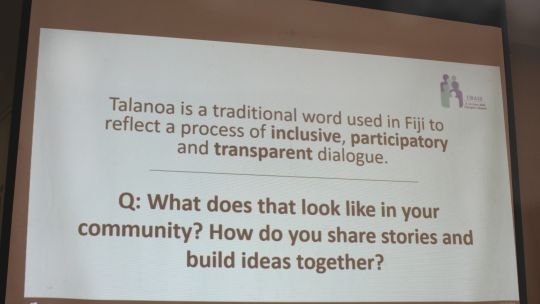 We asked participants what an inclusive dialogue looks like in their culture (Photo: Teresa Corcoran/IIED)