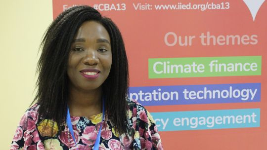 VSO advisor Khumbo Layine says informing young people about how the climate is changing is a vital first step for getting them involved in CBA. (Photo: IIED)