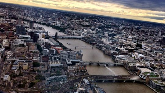 An aerial view of London. Southwark, on the left, is surprisingly undense (Photo: David, Bergin, Emmett and Elliott, Creative Commons, via Flickr)