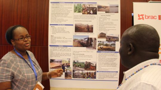 Dr Victoria Moshy of the University of Dar es Salaam discusses a rural resilience project in Tanzania (Photo: IIED)