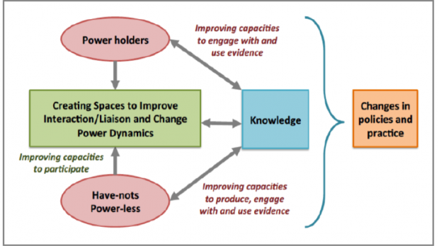 Illustration of  IIED's theory of change