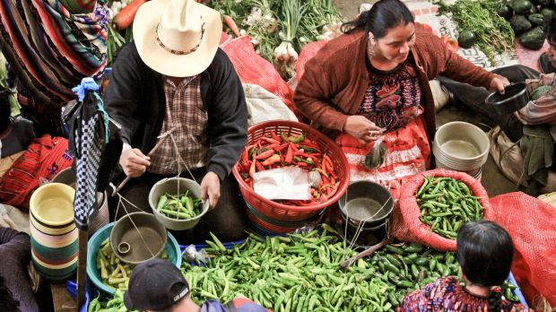 Market day in Chichicastenango, Guatemala.