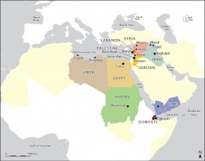 Countries of the MENA region studied in the research