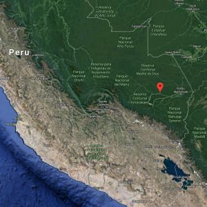 Map showing the location of the Madre de Dios region, in the heart of the Amazon jungle (Image: Google Maps)