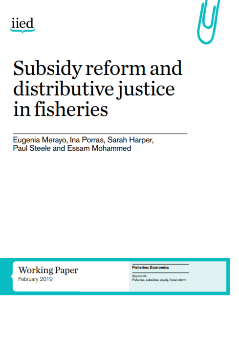 cover Subsidy reform and distributive justice in fisheries