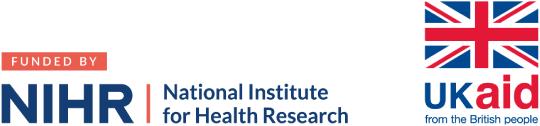 NIHR, UK Aid logos
